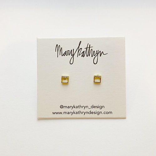 PREORDER Square Studs with CZ