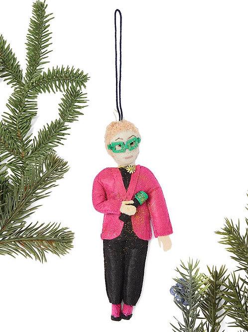 Elton John Felt Ornament