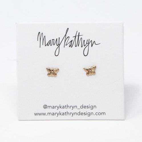 Tiny Butterfly Studs