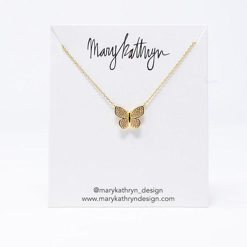 Kelsey Gold Butterfly Necklace