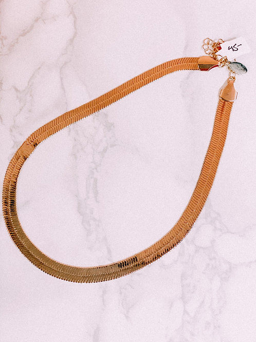 Thick Gold Herringbone Chain