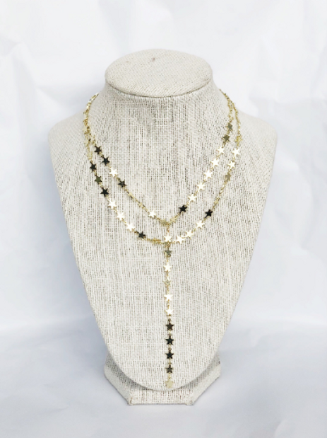 Gold Star Lariat Necklace