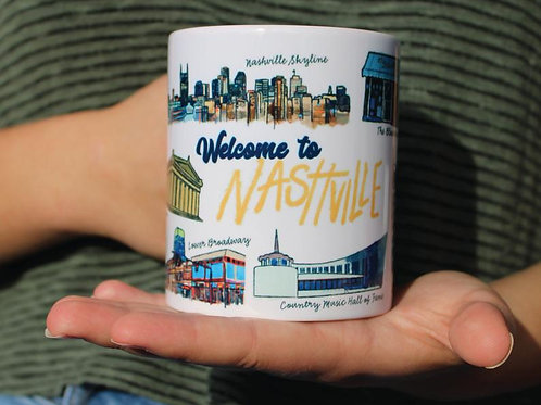 "Nashville ""Music City"" Mug"