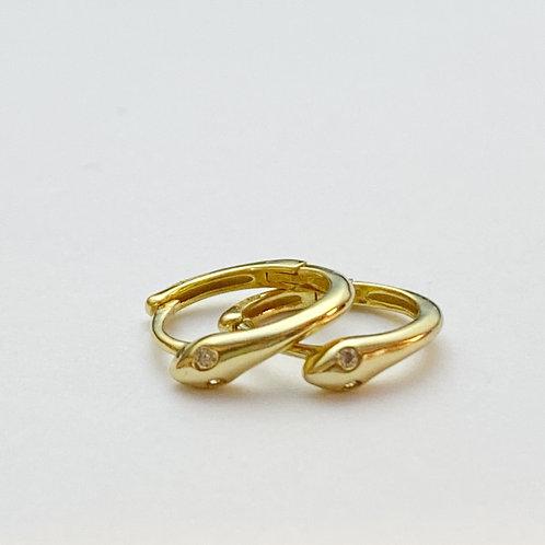 Rhinestone Eye Snake Earrings