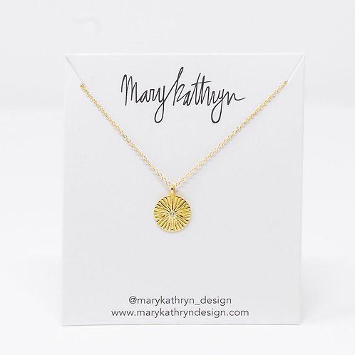 Single Stone Necklace (GOLD)