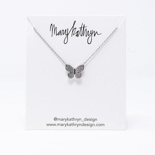 Kelsey Silver Butterfly Necklace