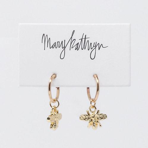 Bee Huggie Earrings