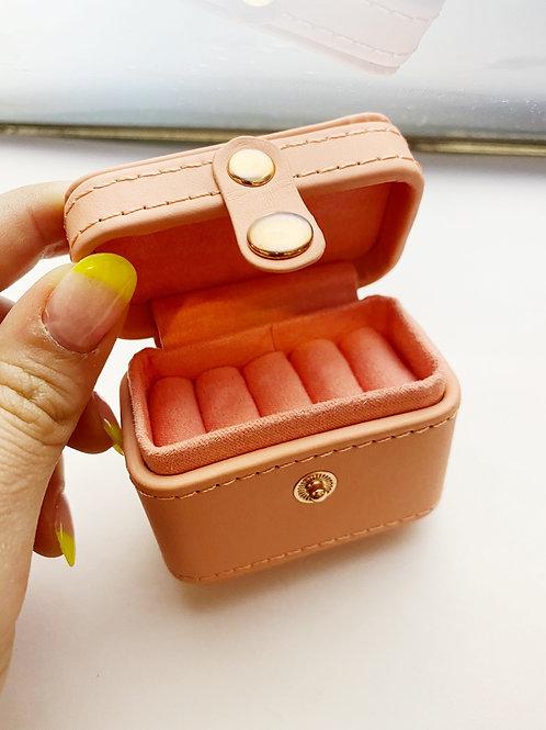 Pink Travel Ring Case