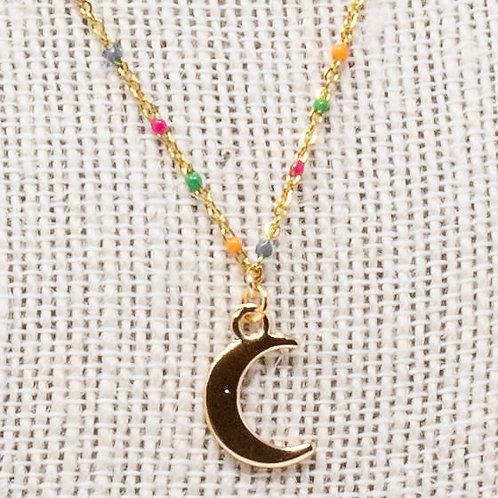 Rainbow Moon Necklace