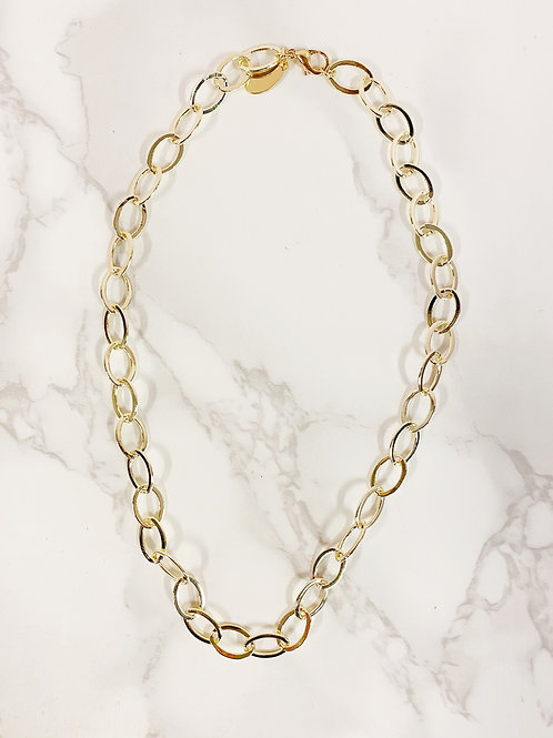 Shiny Gold Oval Chain