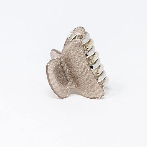 Gold Zig Zag Glitter Medium Hair Clip