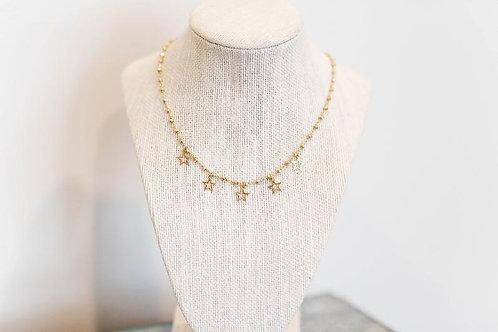 Brass Star Dangle // Sun & Bliss // Mace & Chlo Collection