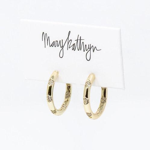 PREORDER Bailey CZ Hoop Earrings