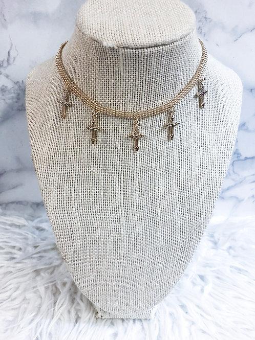 Cross Dangle Necklace