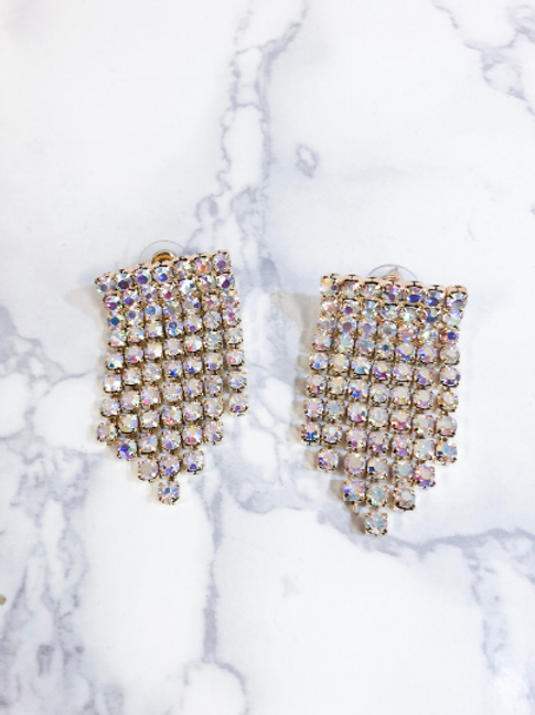 Iridescent Chandelier Earrings (sale)