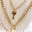 Thumbnail: Gold Key and Lock Layered Necklace (sale)