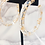 Thumbnail: Clear Hoops with Gold Flakes