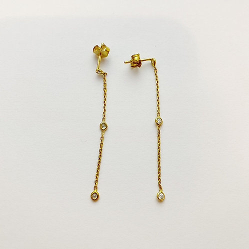 PREORDER Simple CZ Stud Chain Strands