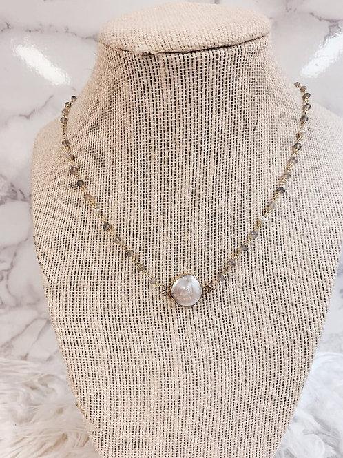 Double Bail Pearl Pendant
