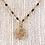 Thumbnail: Tiny Gold Coin on Black Beaded Chain