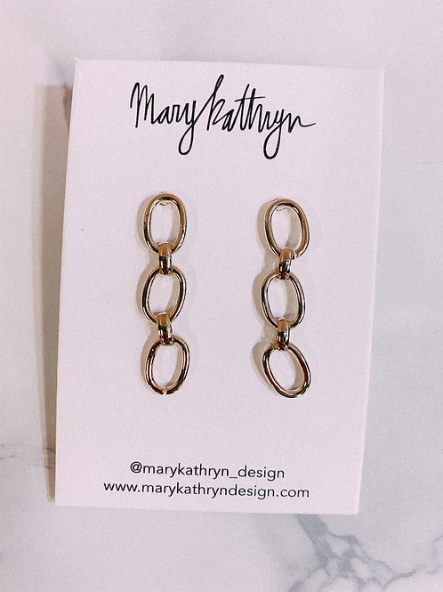 Gold Plated Chain Earrings