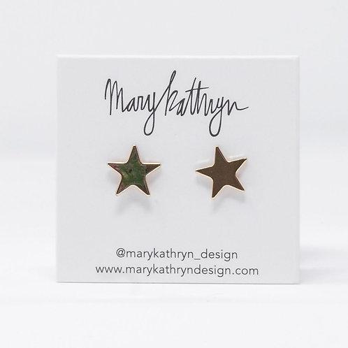 Big Gold Star Studs