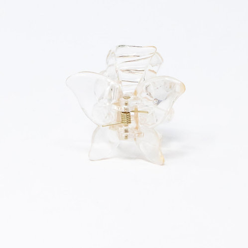 Clear Yellowish Small Butterfly Hair Clip