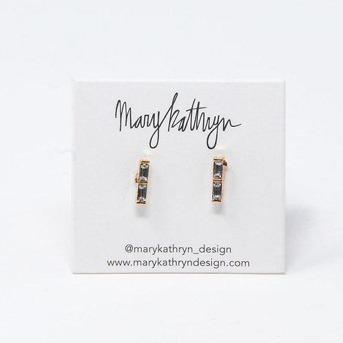 Baguette Drop Earrings