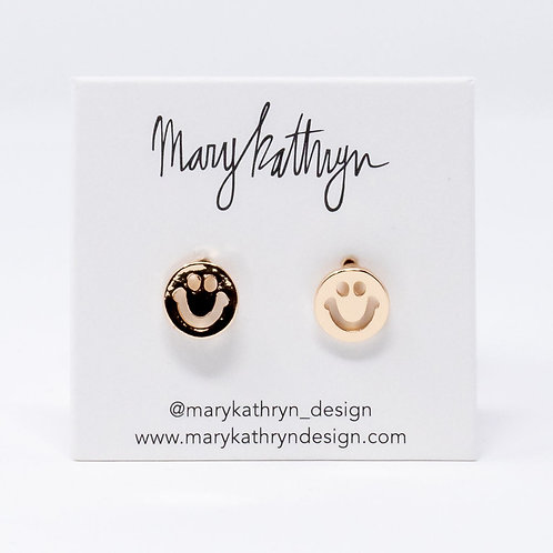 Large Smiley Studs