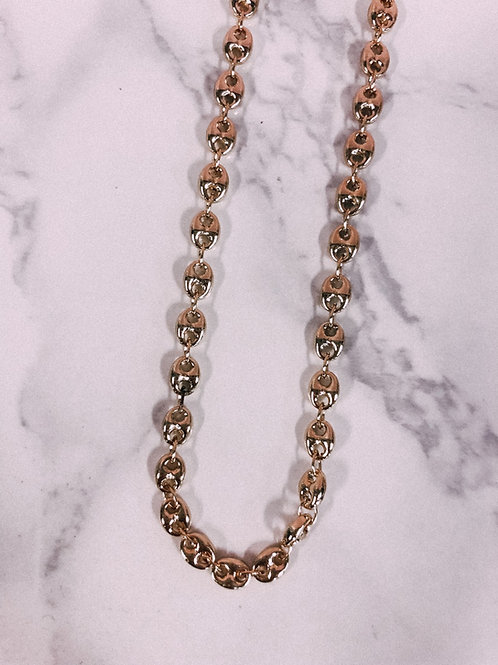 Oval Linked Layering Chain