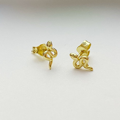 Small Gold Snake Studs