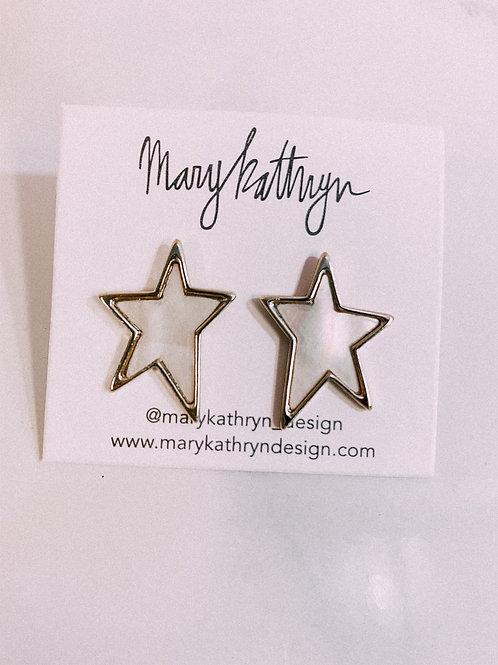Medium Sized Shell Star Studs