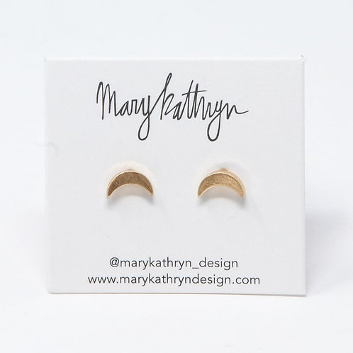 Brushed Moon Studs