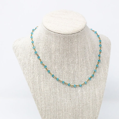 Teal Crystal Chain