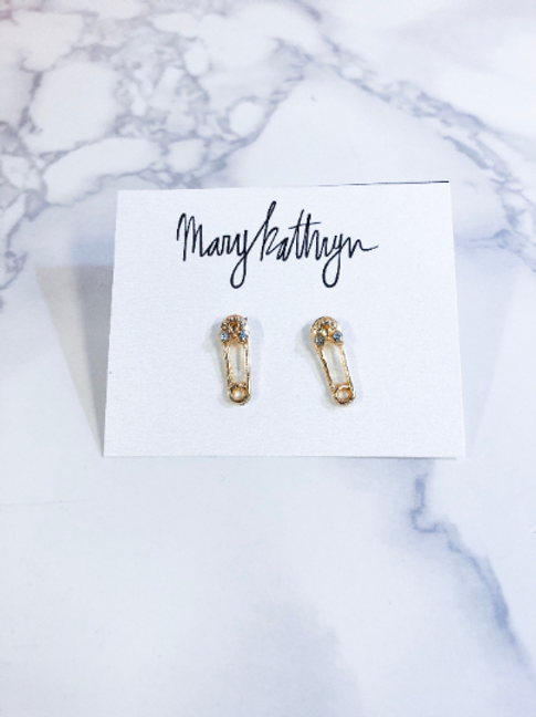 Mini Safety Pin Studs