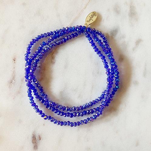 Bright Royal Blue Set of 3 Bracelets