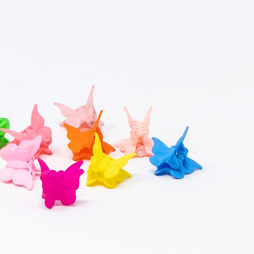 Set of 10 Mixed Butterfly Mini Clips
