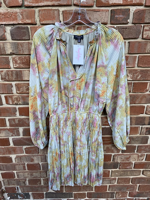 Tie Dye Dress with Sinched Waist