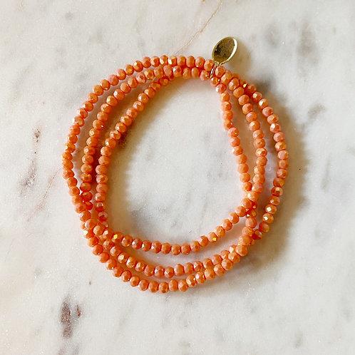 Orange Set of 3 Bracelets
