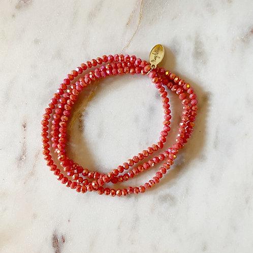 Coral Set of 3 Bracelets
