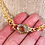 Thumbnail: Gold Plated Rhinestone Clasp Necklace