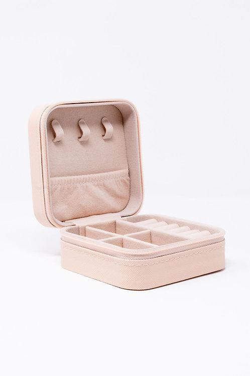 Pink Travel Jewelry Storage