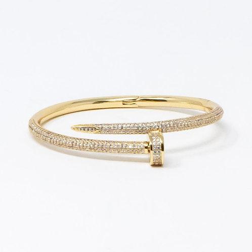 Rhinestone Nail Bracelet