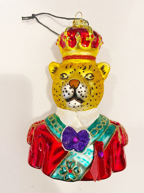 Royal Leopard Ornament