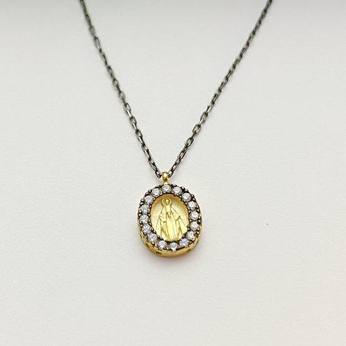 Gunmetal / Gold Saint Necklace