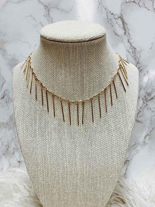 Gold Plated Dagger Necklace