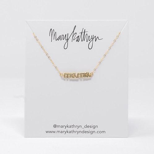 MAMA Rhinestone Necklace