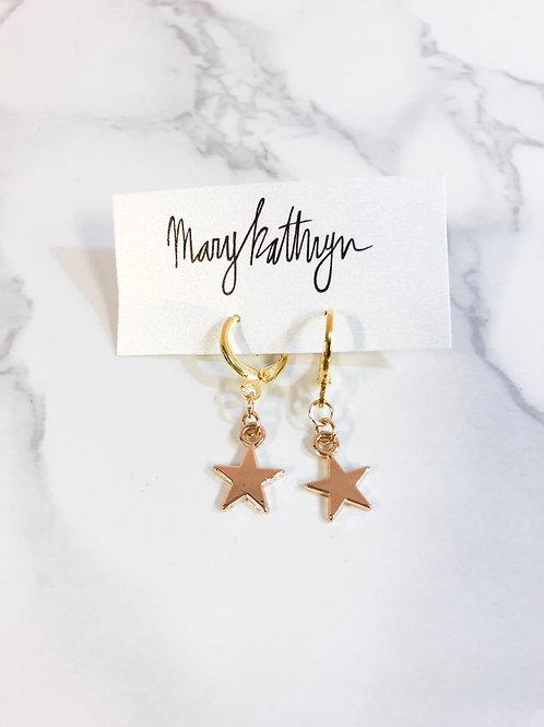 Star Huggie Earrings