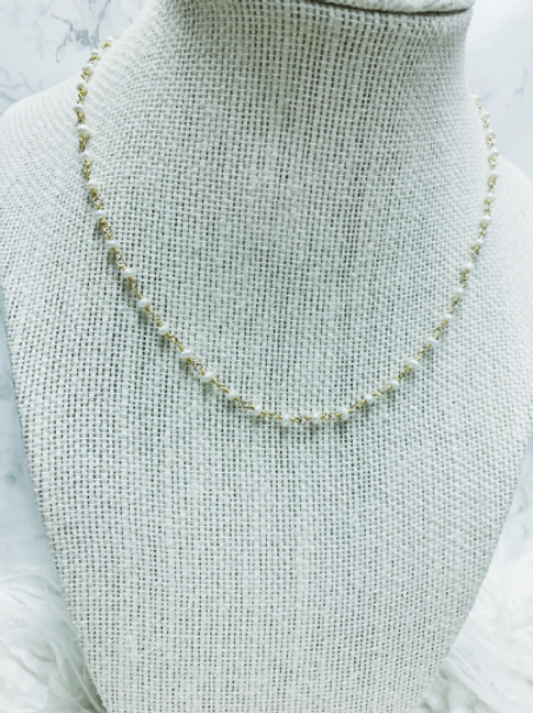 Genuine Pearl Beaded Chain