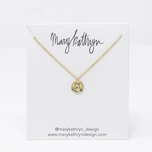 Gold Mary Saint Necklace